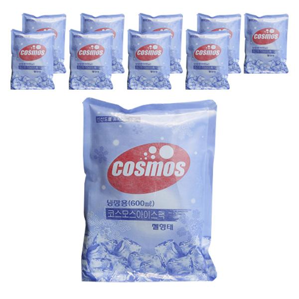 [아이스팩] 코스모스 부직포 아이스팩 600ml, 1개입, 10개 - 랭킹6위 (13500원)