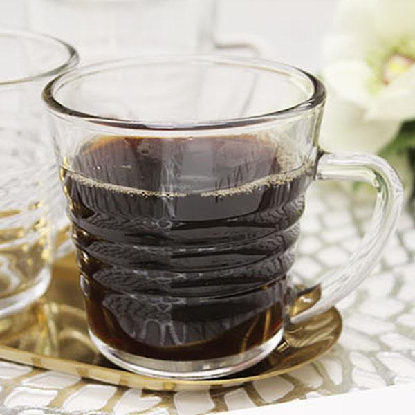 글라스락 강화 전자렌지 커피 머그잔, 230ml, 6개