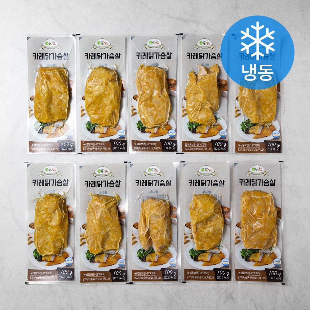 햇살닭 카레닭가슴살 (냉동), 100g, 10팩