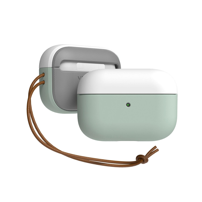 베루스 에어팟 프로 모던 이어폰 케이스, 화이트 + 마린그린, 단일상품