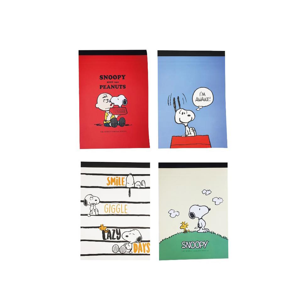 피너츠 스누피 뜯어쓰는 컷팅라인 노트패드 B5 4종 세트, A style, B style, C style, D style, 1세트