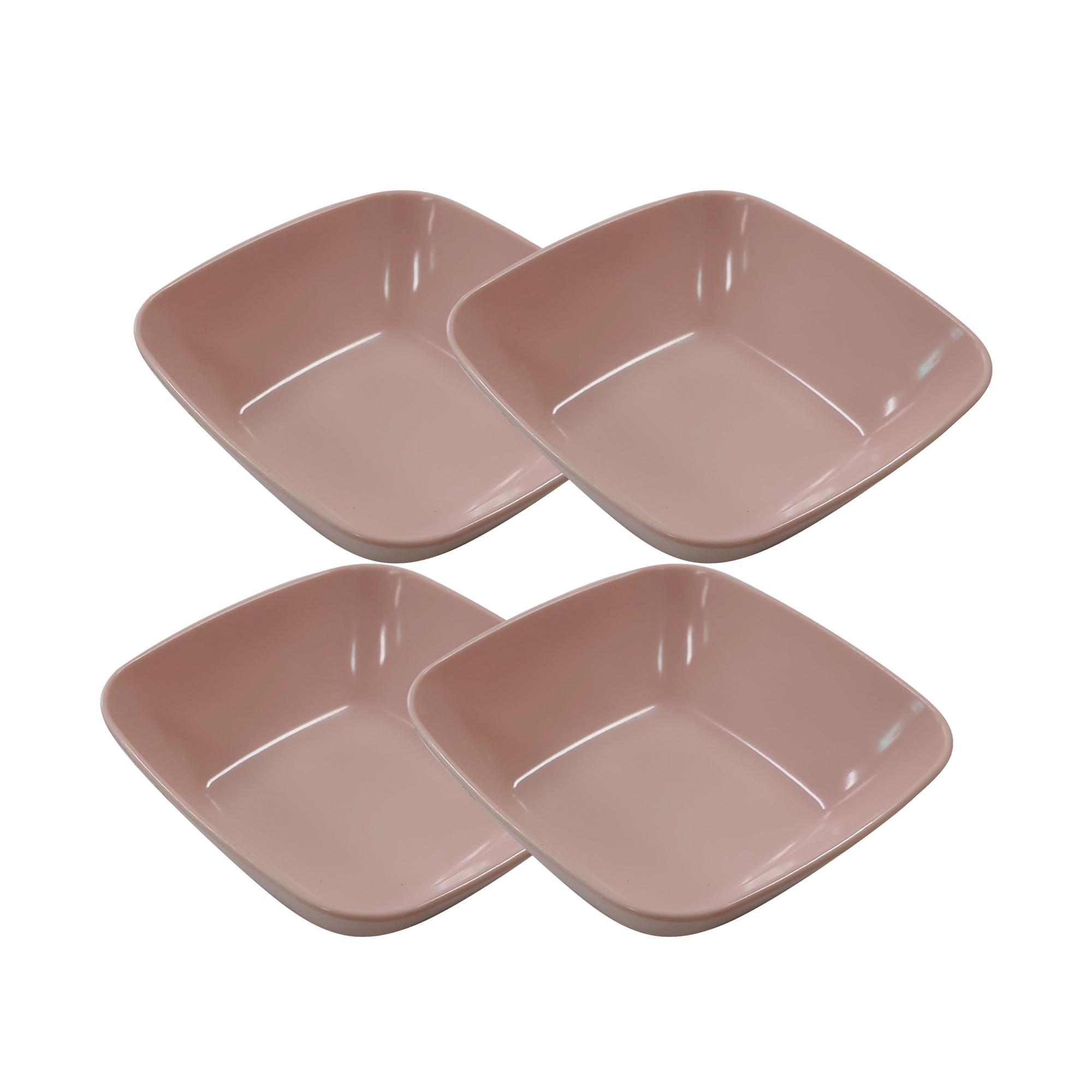 키친웨어 사각 샐러드볼, 핑크, 4개
