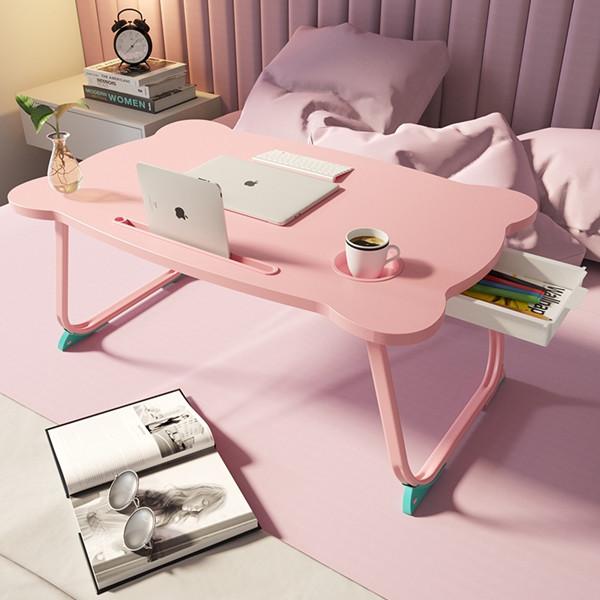 따니네 접이식 미니 테이블 ZZ008 60 x 40 x 28 cm, 핑크