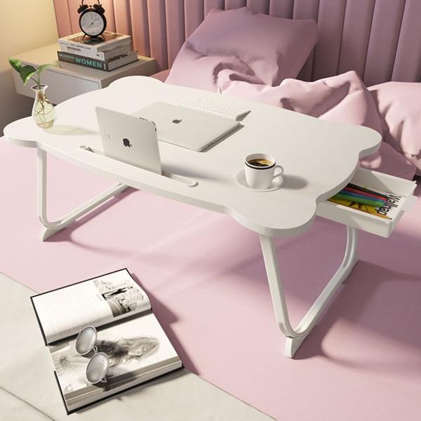 따니네 접이식 미니 테이블 ZZ008 60 x 40 x 28 cm, 화이트