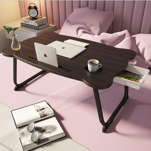 따니네 접이식 미니 테이블 ZZ008 60 x 40 x 28 cm, 브라운