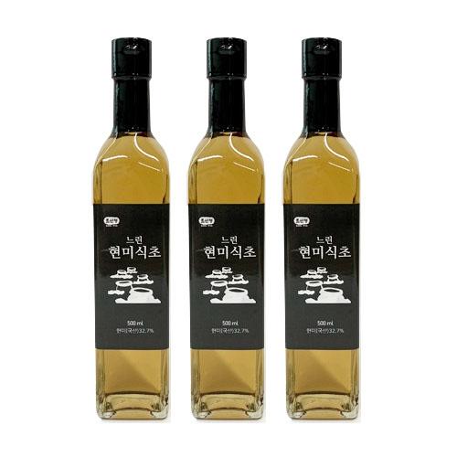 초산정 현미 자연 발효식초, 500ml, 3개