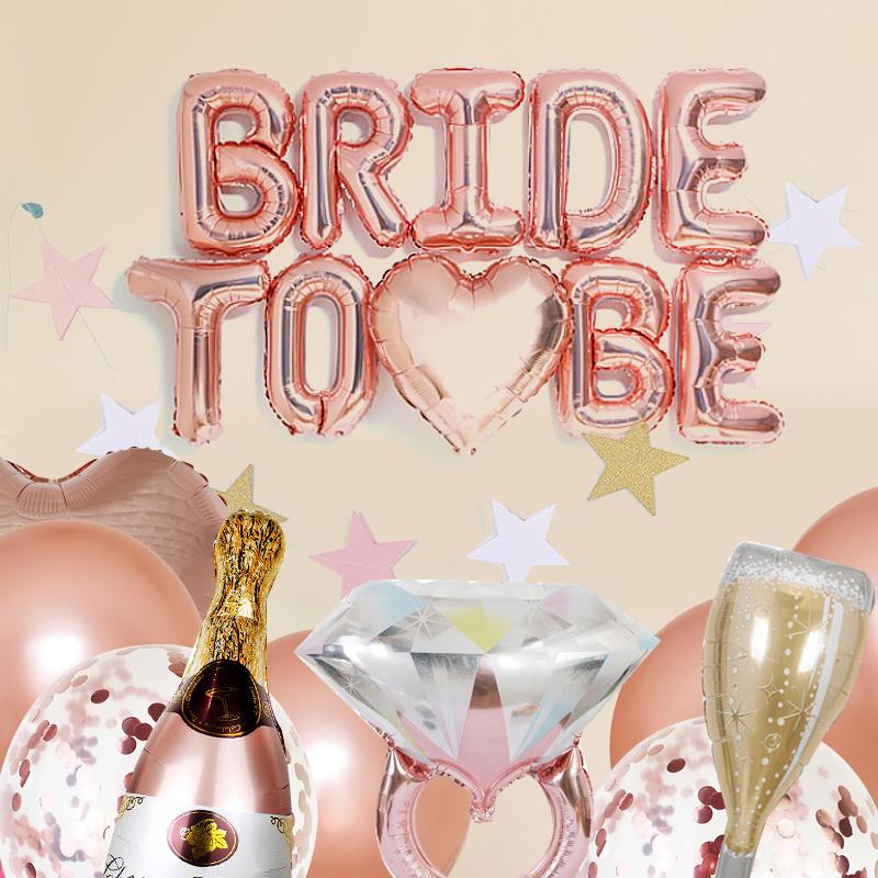 오늘파티 Bride To Be 브라이덜샤워 풍선 장식 홈파티세트, 혼합색상, 1세트