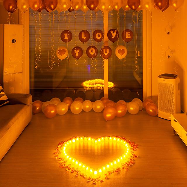 프로포즈 LED촛불 이벤트세트 A, 혼합색상, 1세트