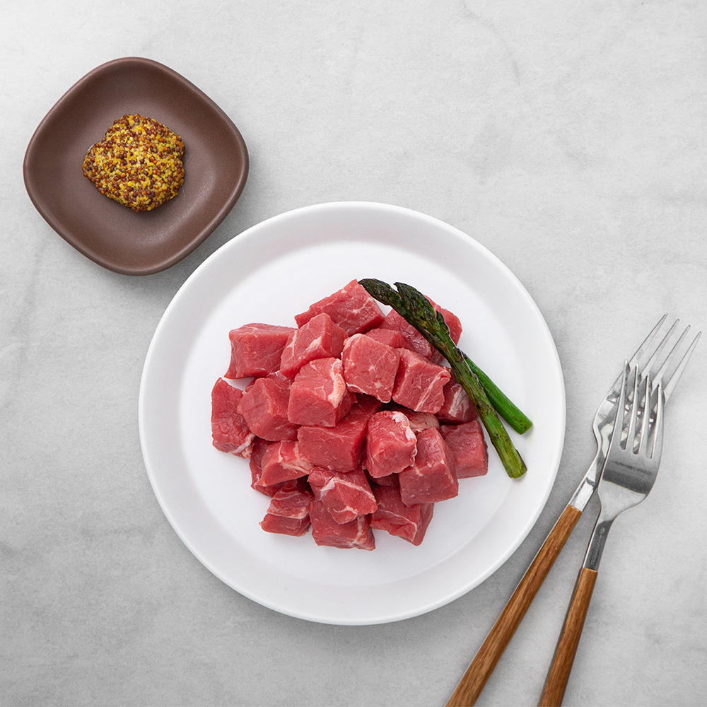 호주산 우채끝 찹스테이크용 (냉장), 300g, 1팩