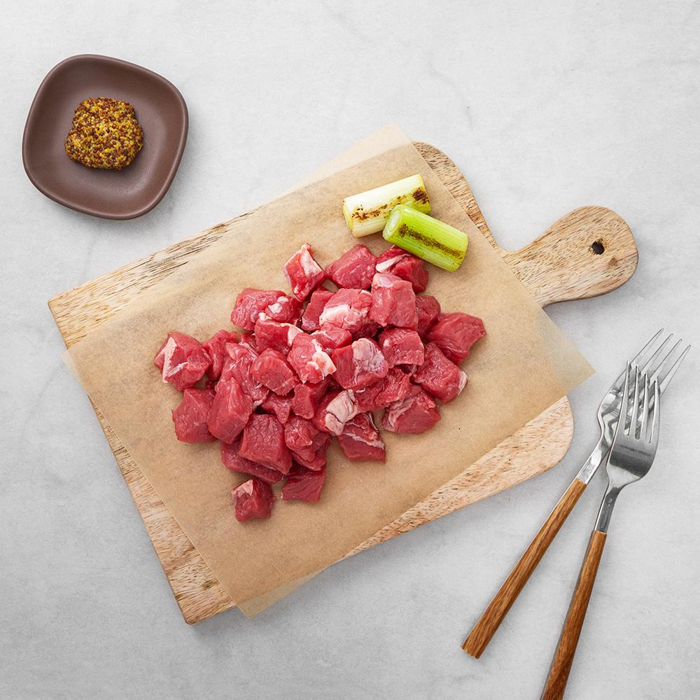 호주산 우등심 찹스테이크용 (냉장), 300g, 1팩