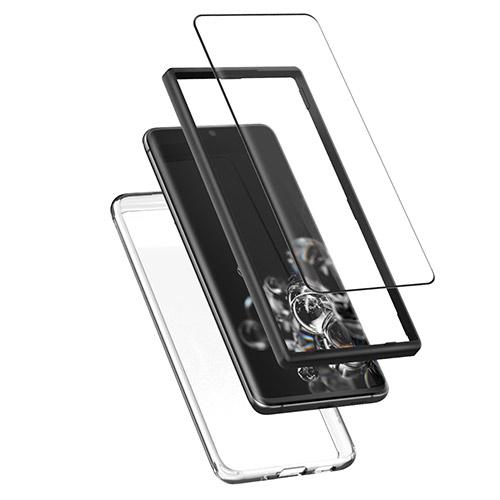 360도 보호 플렉시블 풀커버 액정보호필름 + 에어클로 휴대폰 케이스, 1세트