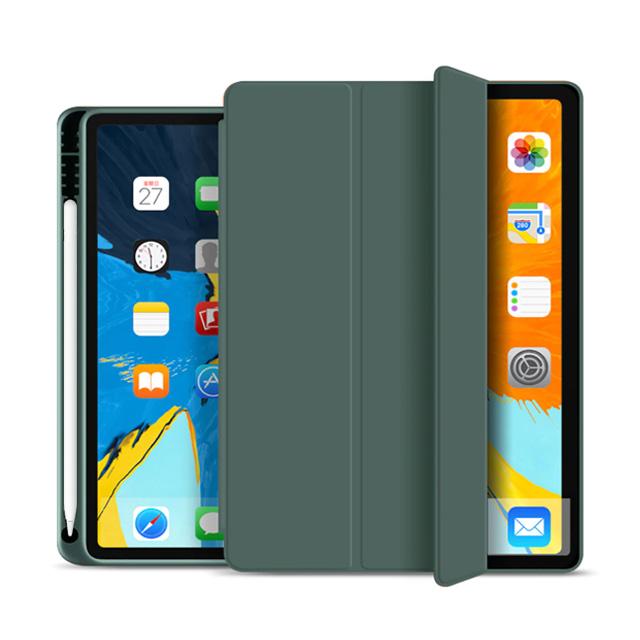 뷰씨 애플펜슬 2세대 수납홀더 스마트커버 태블릿 케이스, 미드나잇그린