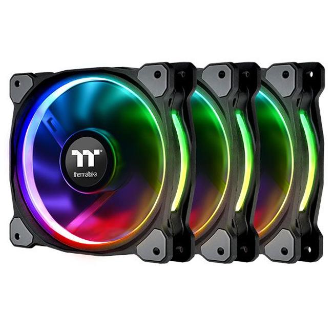 써멀테이크 Riing Duo 12RGB 라디에이터 팬 TT 프리미엄 에디션 CPU쿨러 3p, 단일상품