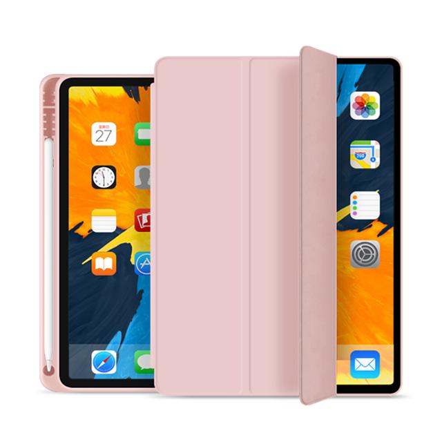 뷰씨 애플펜슬 2세대 수납홀더 스마트커버 태블릿 케이스, 핑크샌드