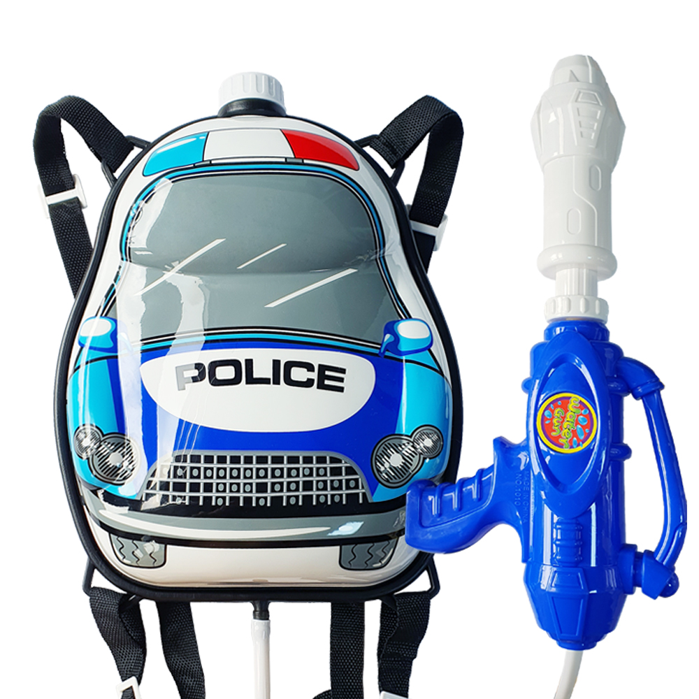 애들랜드 파워 경찰 배낭 물총, 혼합색상