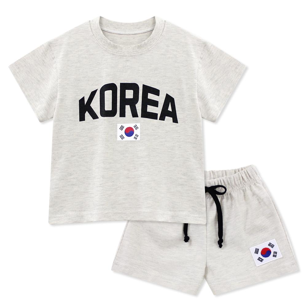 리틀래빗 아동용 코리아 여름 반팔 상하 세트