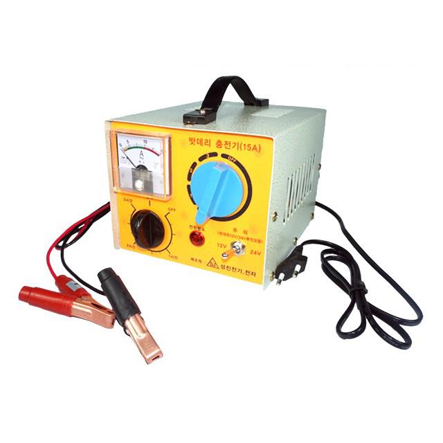 성진전기 차량용 배터리 충전기 SJ-15A, 1개