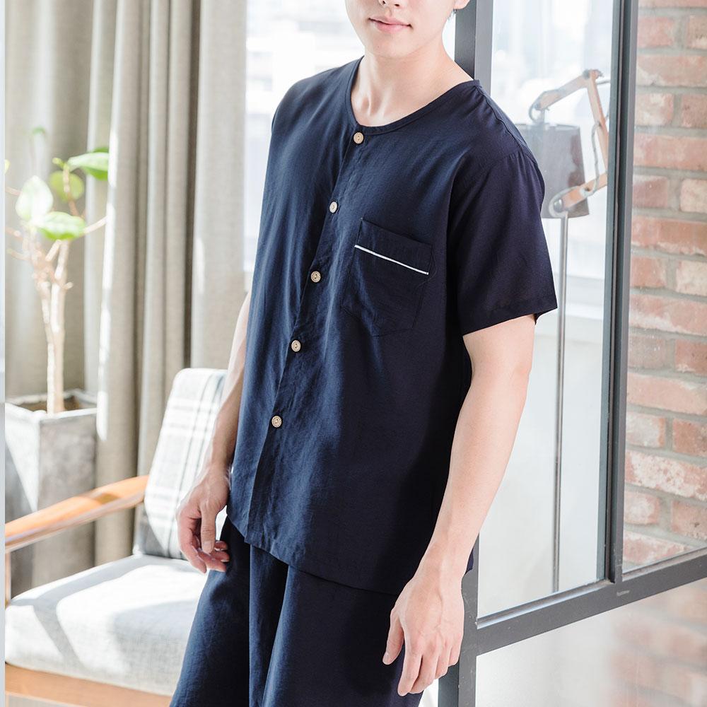 도씨 남성용 자연인견 반팔 잠옷 상하세트