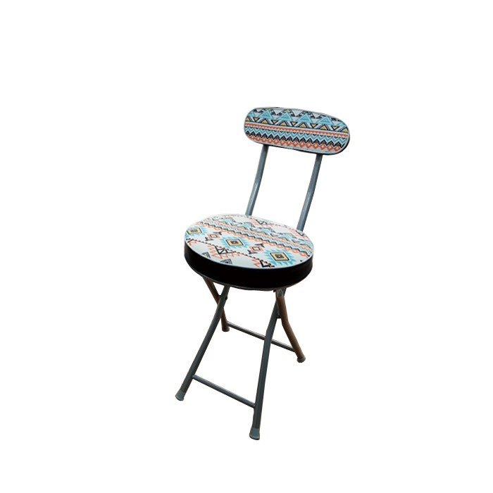 키친프리 인디언 쿠션 등받이 원형 의자, 혼합색상