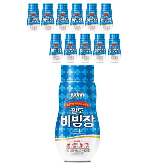팔도 비빔장 소스 냉면장 비빔/냉면장, 380g, 12개