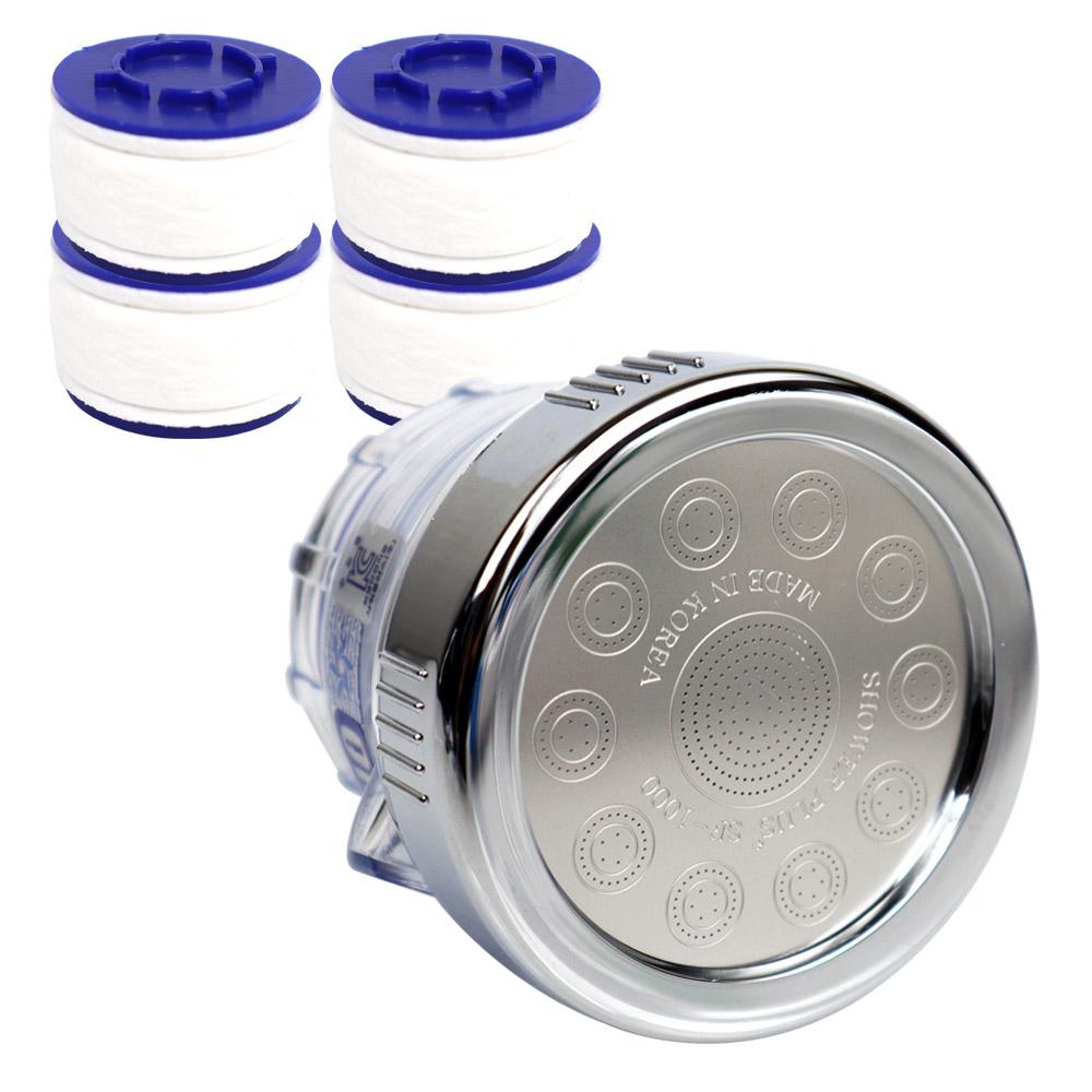 아쿠아듀오 플랙시블형 필터 싱크 헤드 SF-1000 +녹물 제거 리필 필터 4p, 1세트