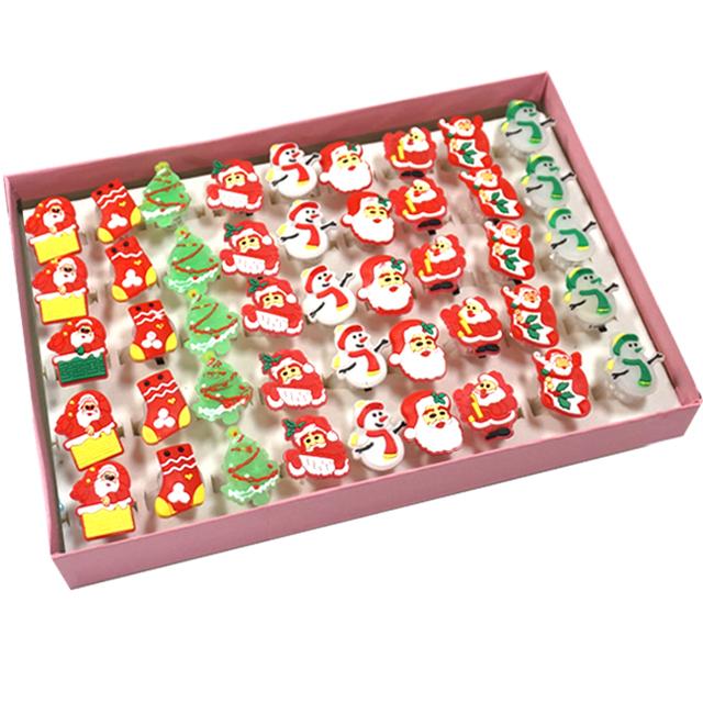 크리스탈팬시 크리스마스 불빛 반지 9종 세트, 혼합색상, 5세트