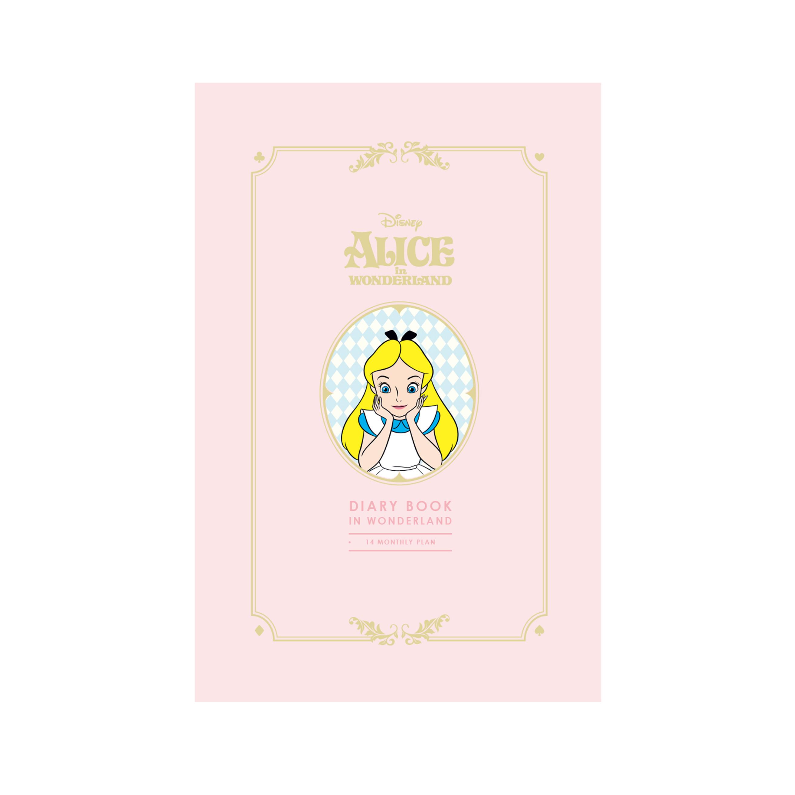 디즈니 이상한 나라의 앨리스 만년 다이어리 북, 핑크
