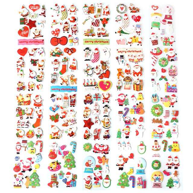 크리스탈팬시 500 크리스마스 스티커 20종 세트, 혼합색상, 1세트