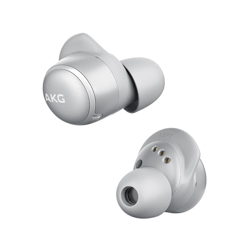 AKG 노이즈캔슬링 풀터치 컨트롤 블루투스 이어폰, AKGN400, 실버