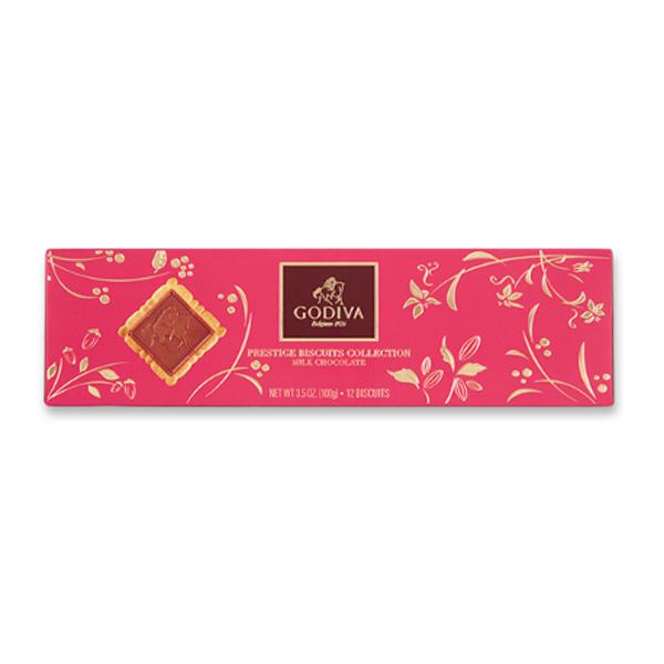 고디바 프레스티지 레이디 밀크 비스킷 컬렉션 초콜릿 12p 세트, 100g, 1세트