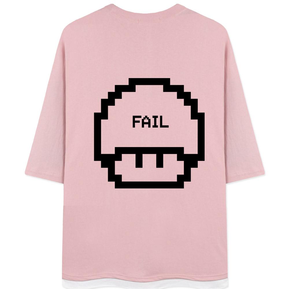 네스파 버섯픽셀 7부 티셔츠 SRB_0264