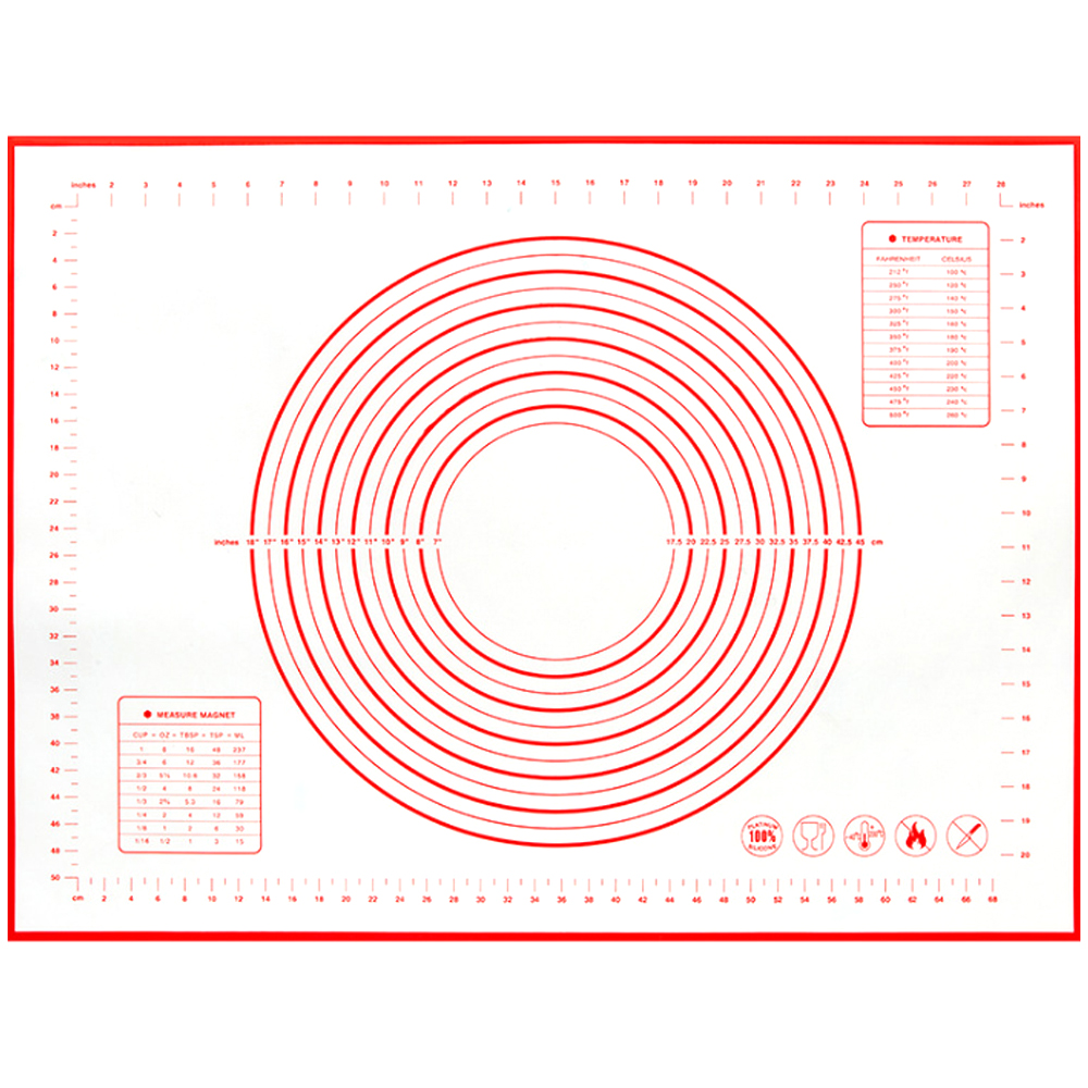 세븐프리 주방용 실리콘 반죽매트 특대형 레드, 1개