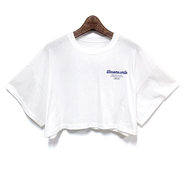 반에이크 오 여성용 원썸 크롭 반팔 티셔츠
