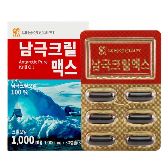 대웅생명과학 남극크릴맥스 피쉬오일, 30캡슐, 1개