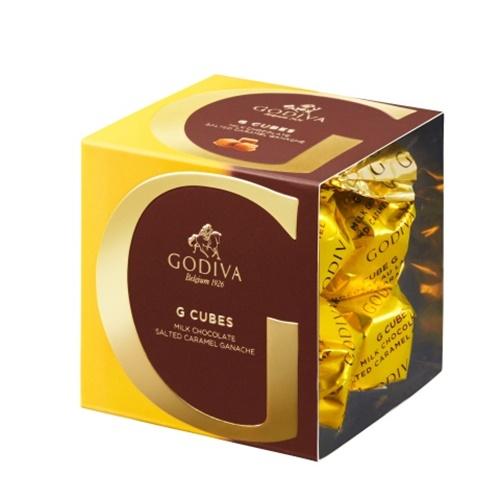 고디바 지큐브 솔티드 캐러멜 초콜릿 8p, 66g, 1개