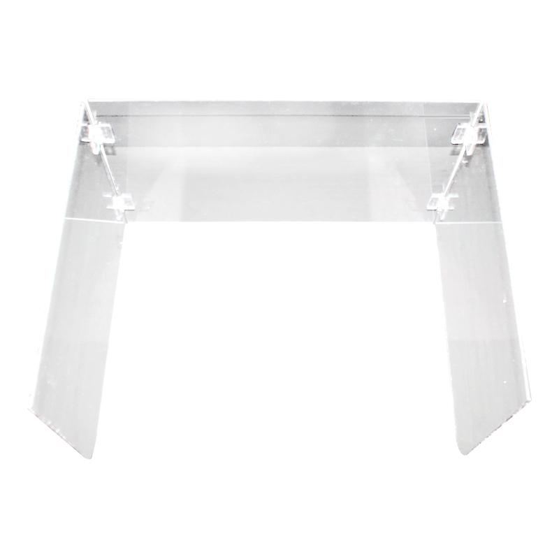 빅드림 티처스 아크릴 칸막이 접이식 책상 가림판 성인용 600 x 400 mm, 투명, 1개