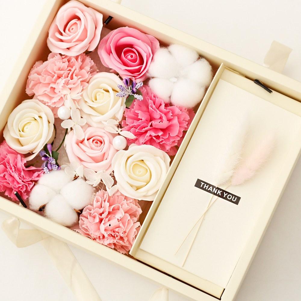 아침향기 조화 카네이션 용돈박스 어버이날선물, 핑크