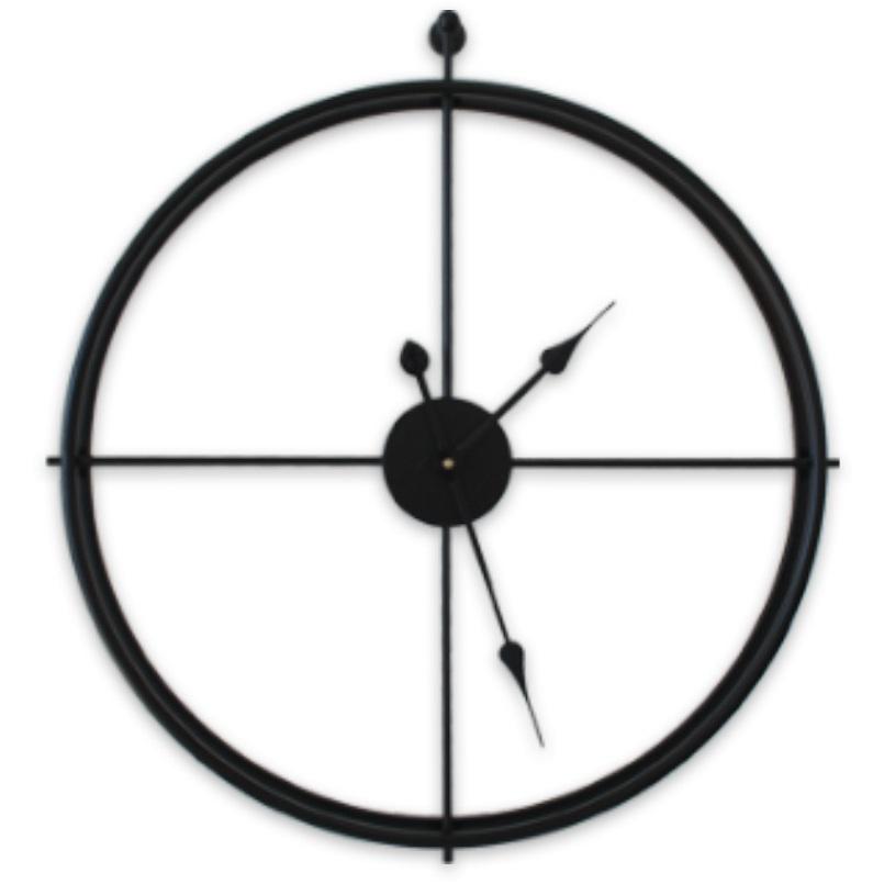 푼토스 무소음 엔틱 벽시계 60cm, 블랙