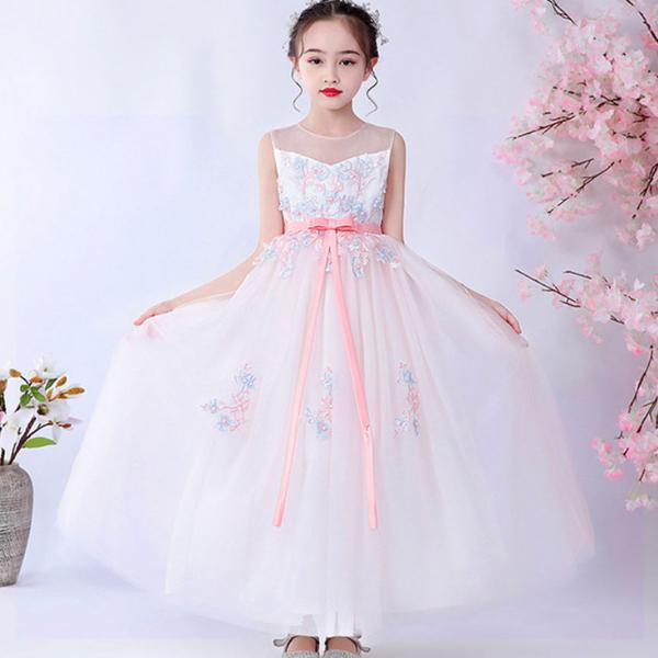 엣지랜드 블루 리본 나시 롱 드레스