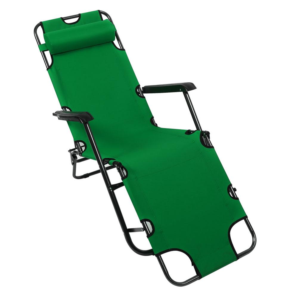 K4Camp 3단 접이식 캠핑 낚시 침대 의자 특대형, 그린, 1개