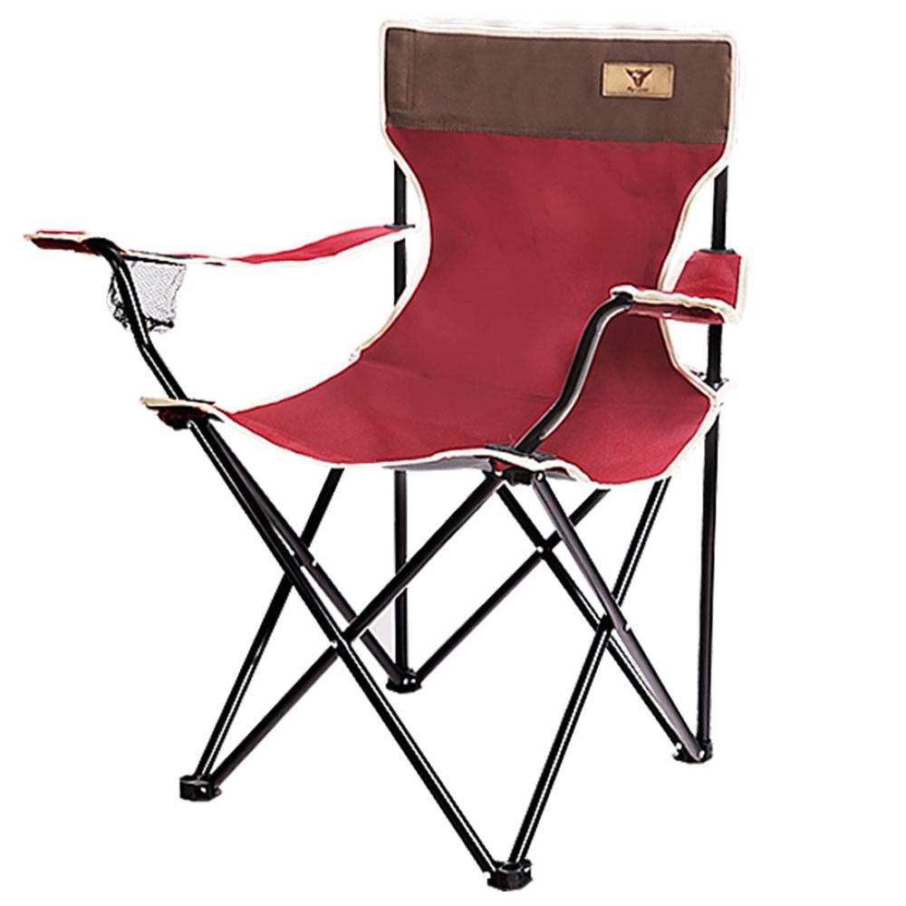 K4Camp 팔걸이 접이식 낚시 캠핑의자 특대형, 혼합색상, 1개