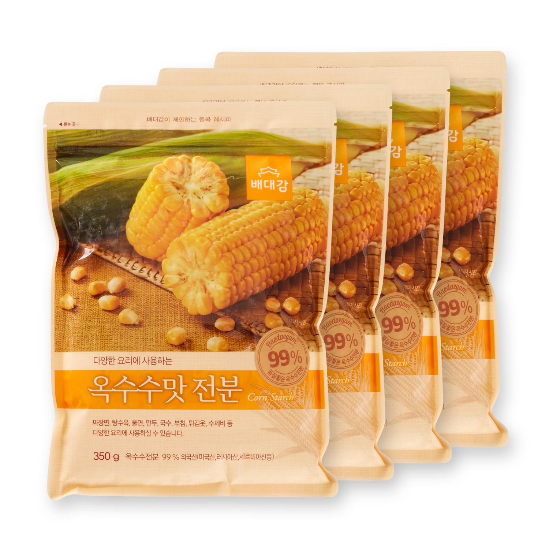 배대감 옥수수맛 전분, 350g, 4개