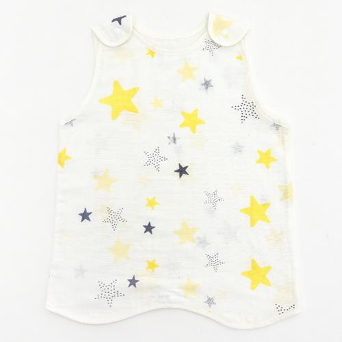 유니프랜드 아동용 스타 양면 거즈 수면조끼