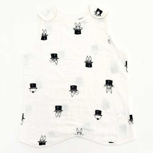 유니프랜드 아동용 매직래빗 양면 거즈 수면조끼