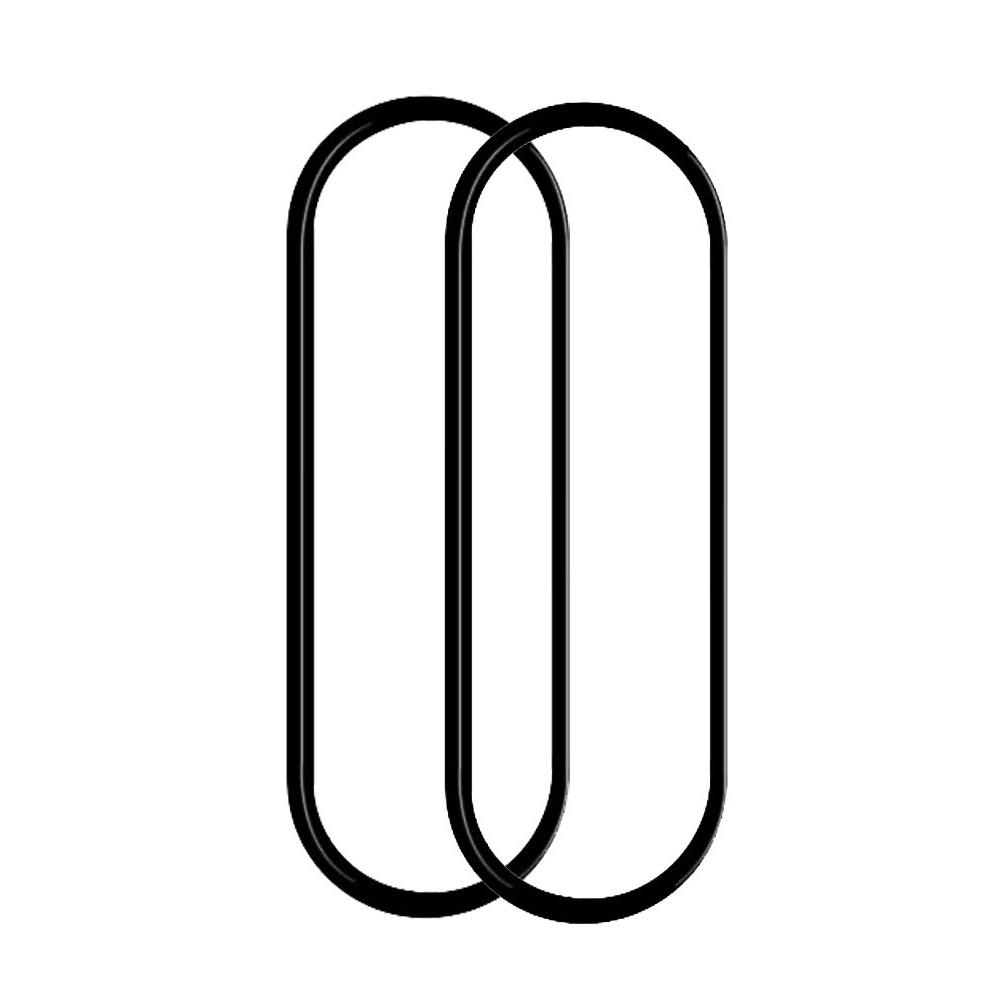 로랜텍 샤오미 미밴드4 풀커버 강화유리필름, 2개, 단일색상