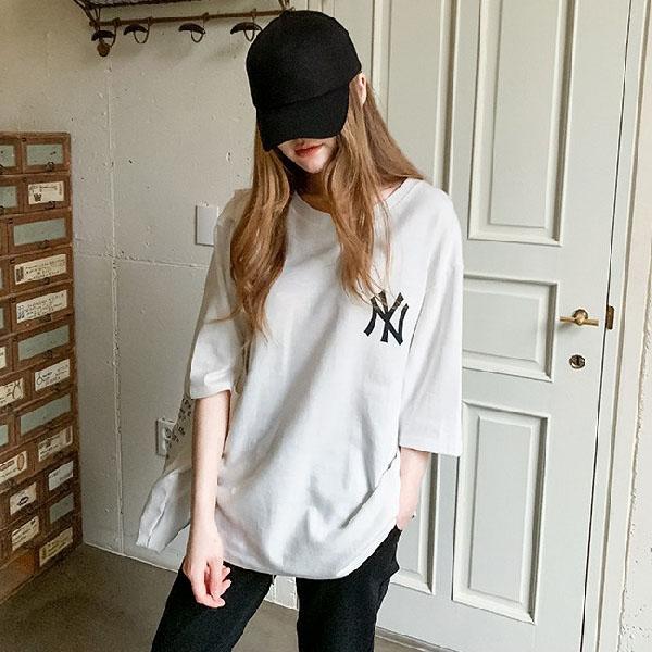 난닝구 여성용 슈피딘 뉴욕 나염 티셔츠
