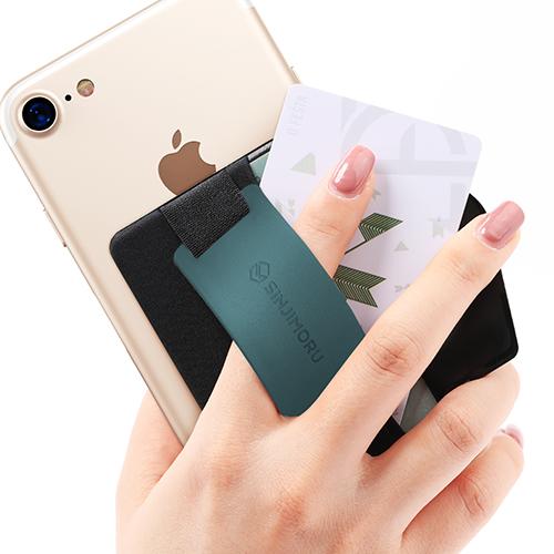 신지모루 실리콘 밴드그립 휴대폰 카드수납케이스, 블루, 1개