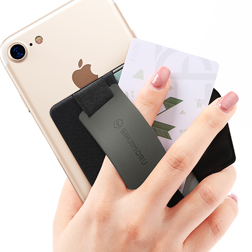 신지모루 실리콘 밴드그립 휴대폰 카드수납케이스, 그레이, 1개
