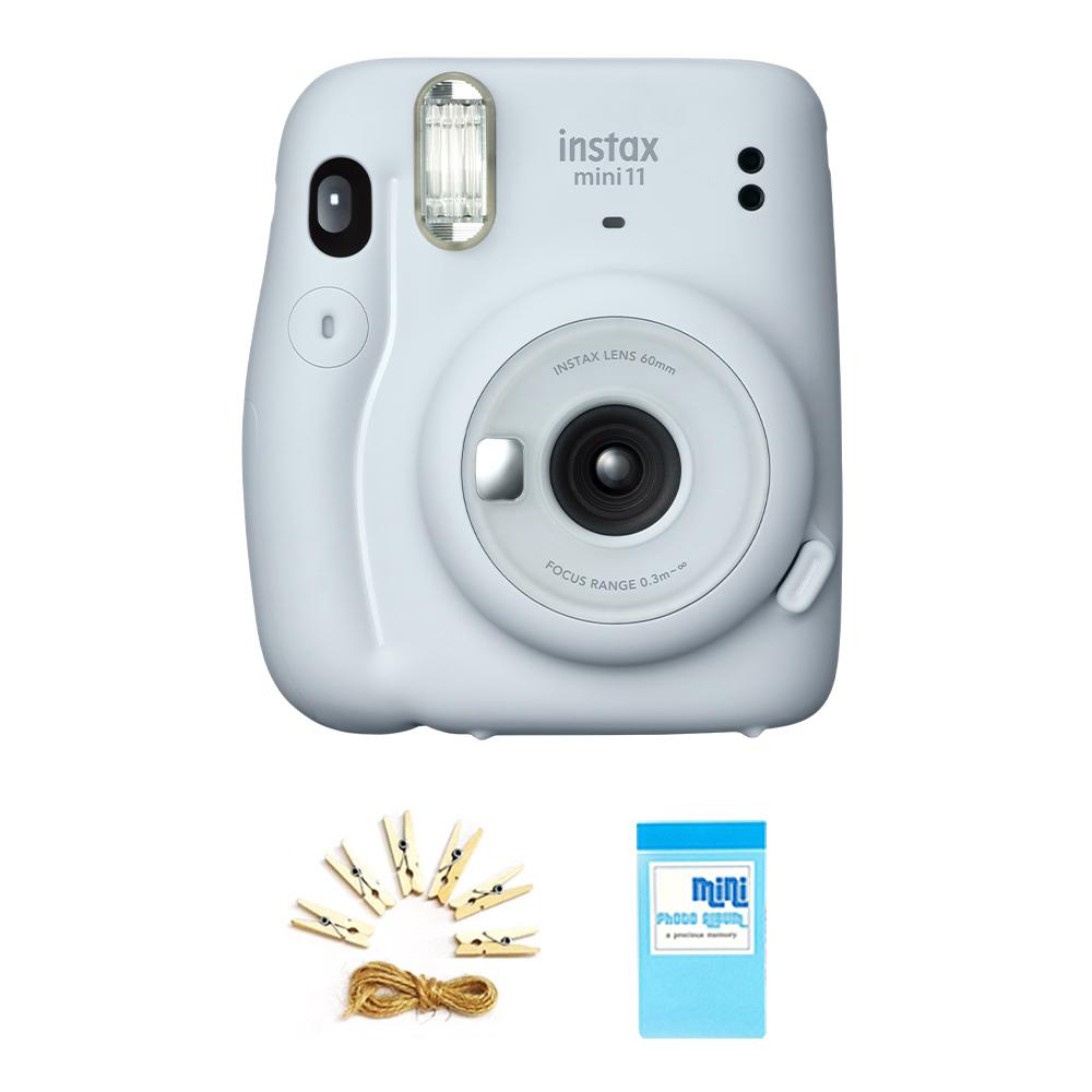 인스탁스 미니11 즉석카메라 M11 + 포토라인 + 집게 6p + 1단 미니앨범 세트, M11(아이스화이트), 1세트
