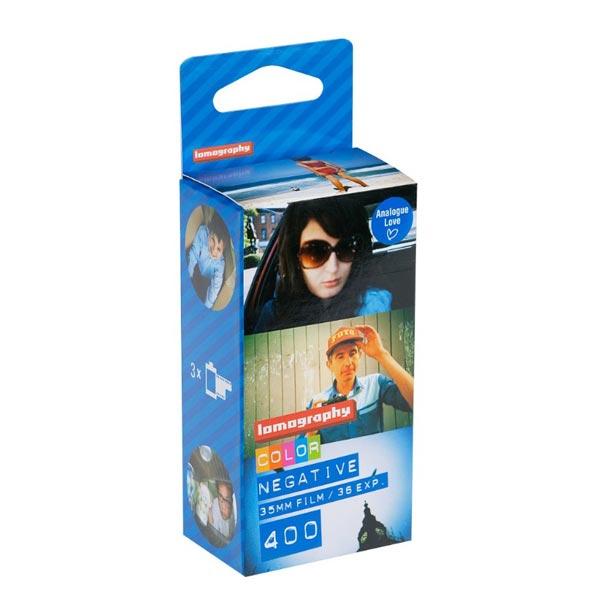 로모그래피 컬러 네거티브 필름 35mm, ISO 400, 3개